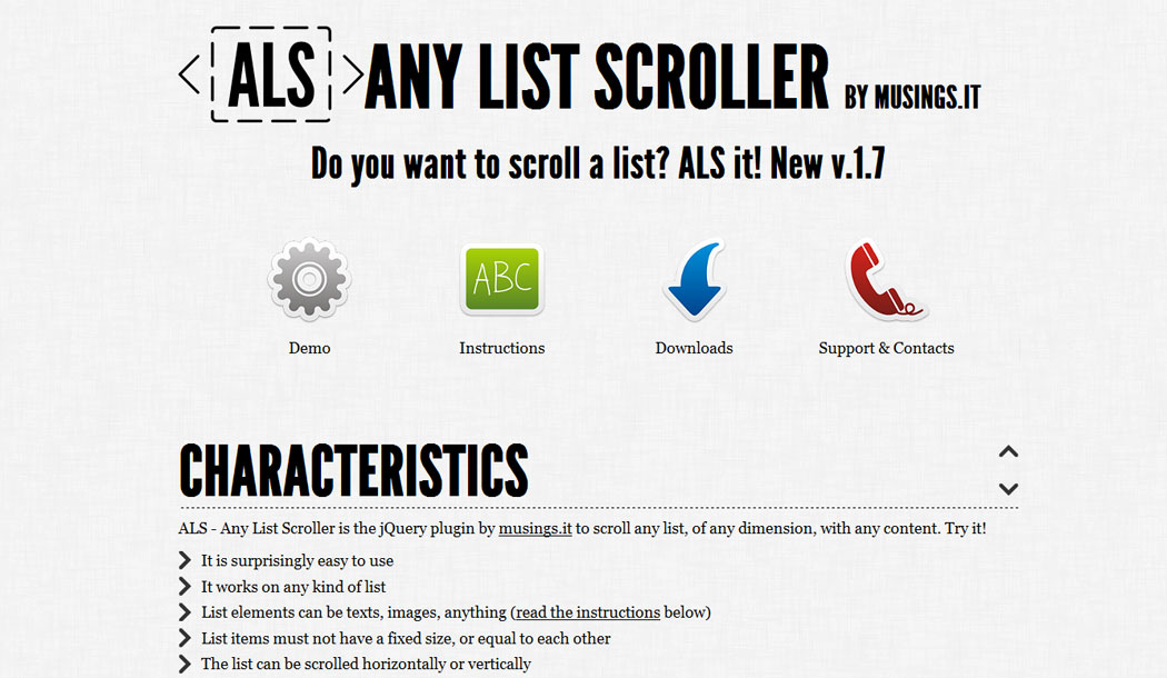 ALS - Any List Scroller